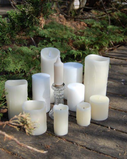 Bougies à piles et traditionnelles
