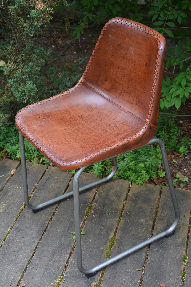Chaise Cuir Art Deco