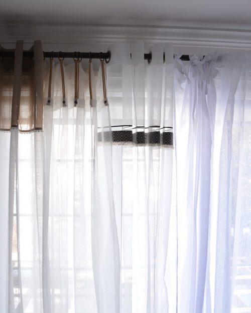 Stores, rideaux, voilages, et brise-bise