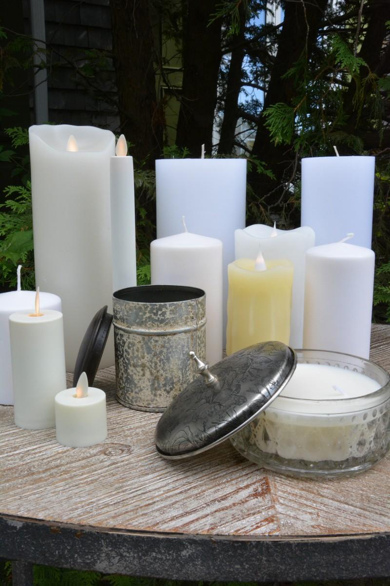 Bougies à piles , traditionnelles et parfumées